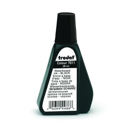 Trodat@ 7011 Premium Ink for Stamp Pad, 28ml/bottle - Black
