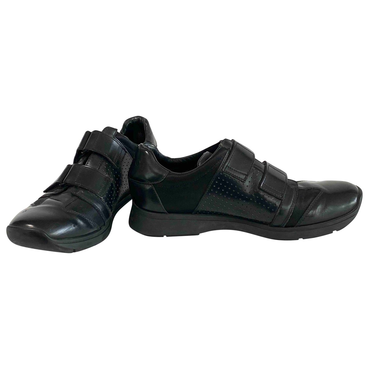 Gucci \N Black Leather Trainers for Men 43.5 EU