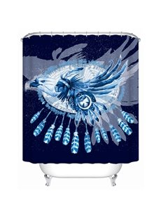 Indian Pattern Moist Resistant Polyester Material Bathroom Shower Curtain