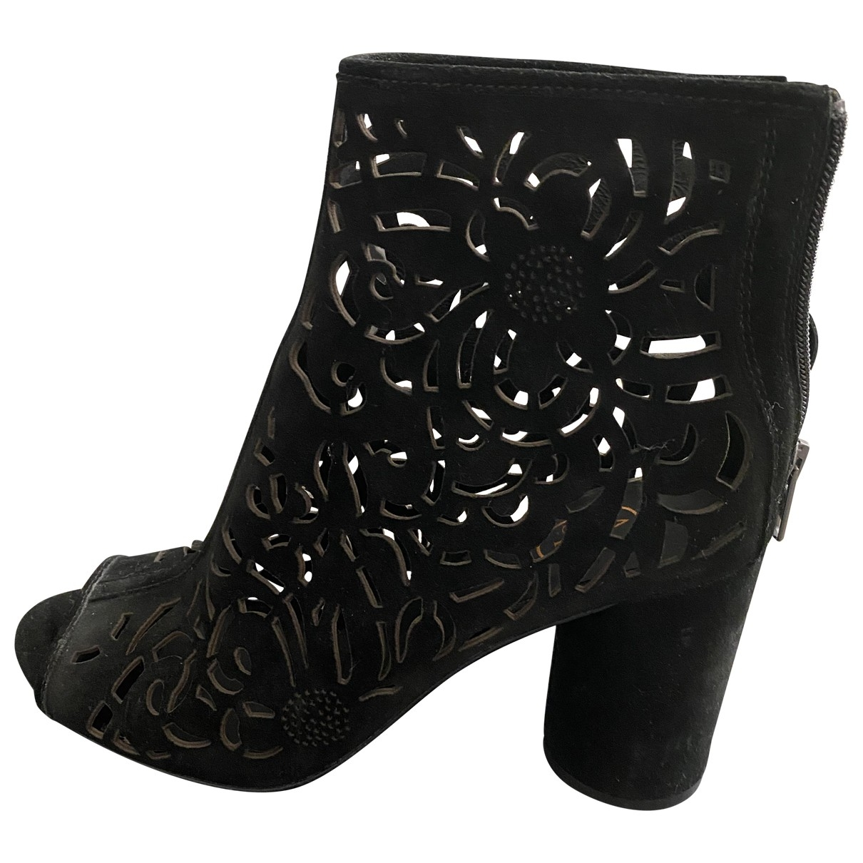Ash \N Black Suede Heels for Women 40 EU