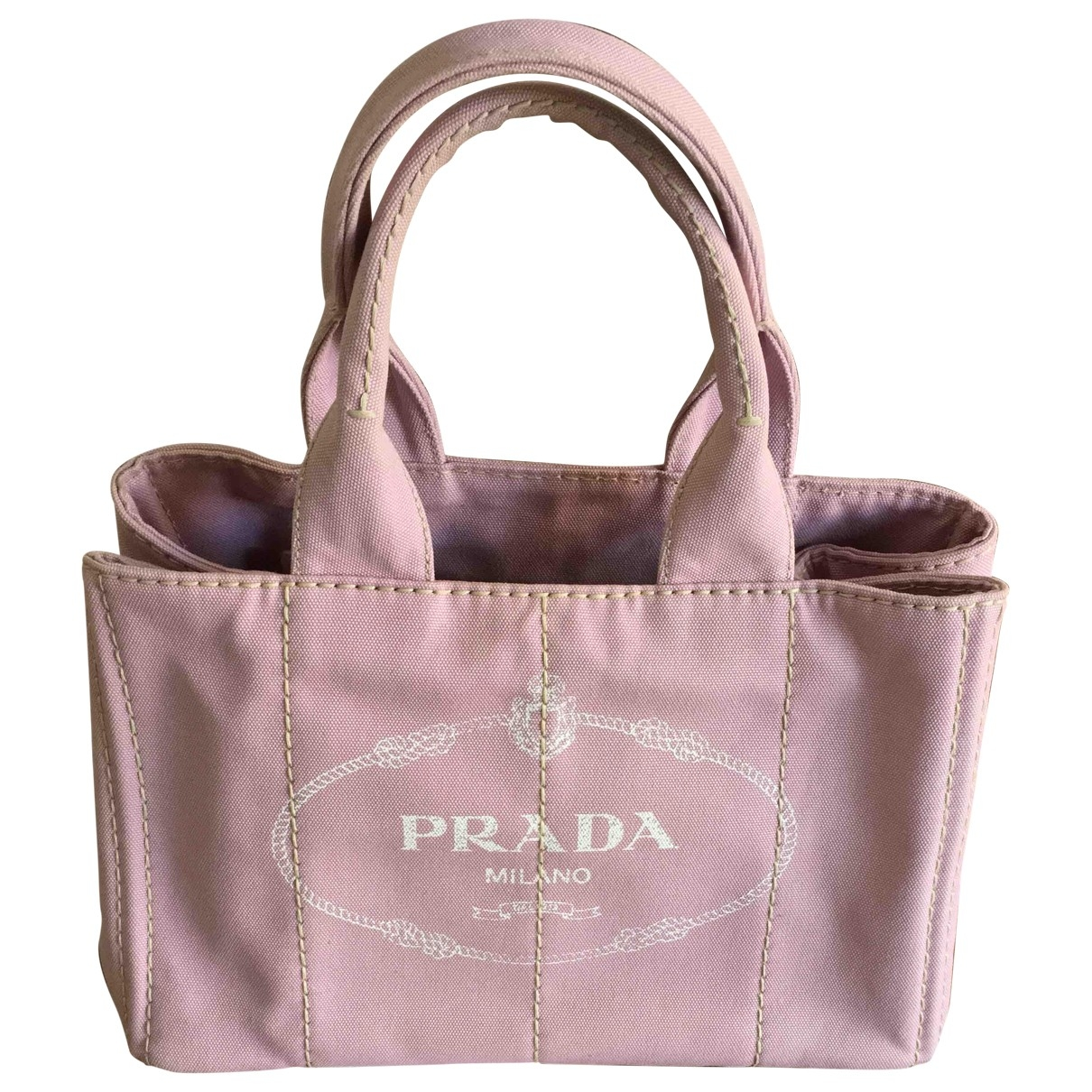 Prada \N Pink Cloth handbag for Women \N