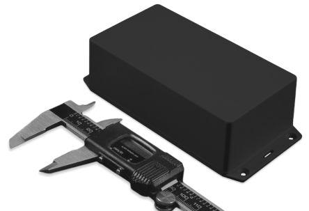 Hammond 1591, Black ABS Enclosure, IP54, Flanged, 152.43 x 82.43 x 47.75mm