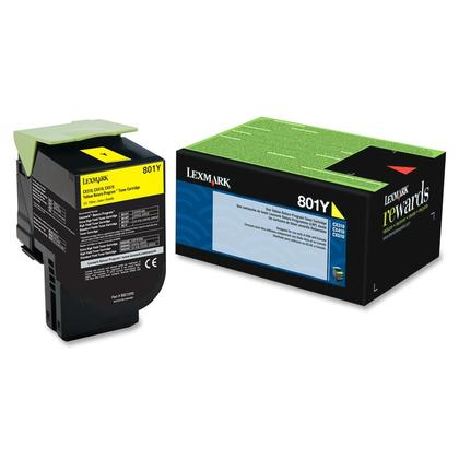 Lexmark 801Y 80C10Y0 Original Yellow Return Program Toner Cartridge