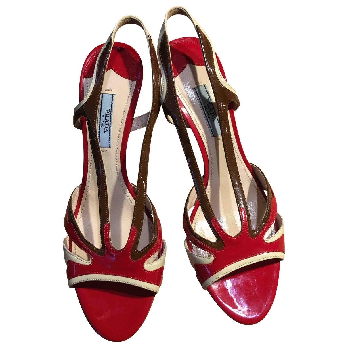 Prada \N Red Patent leather Sandals for Women 38.5 EU
