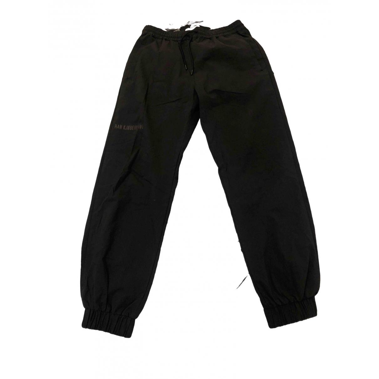 Han Kjobenhavn \N Black Cotton Trousers for Men M International