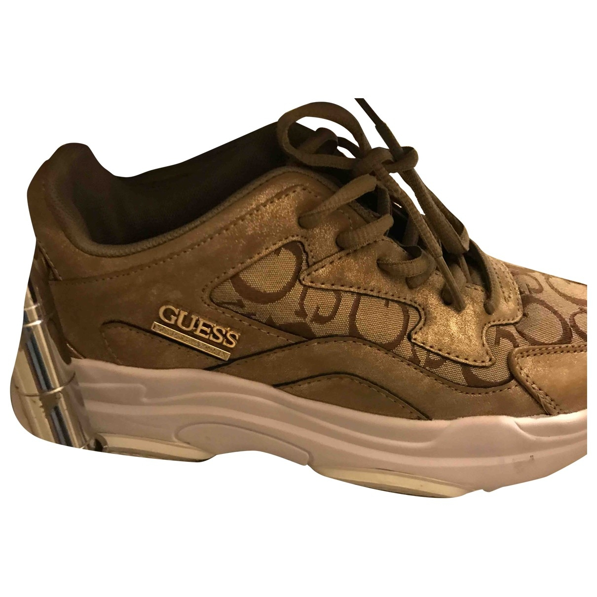 Guess \N Gold Cloth Trainers for Women 6 UK