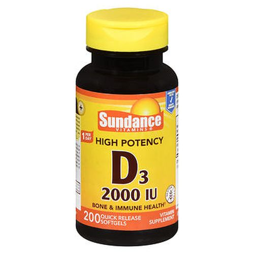 Sundance High Potency D3 Quick Release Softgels 200 Caps by Sundance