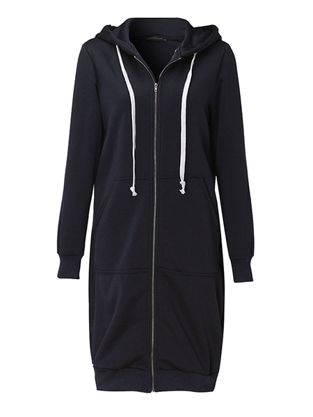 Yoins ZANZEA Hooded Design Long Sleeves Coat
