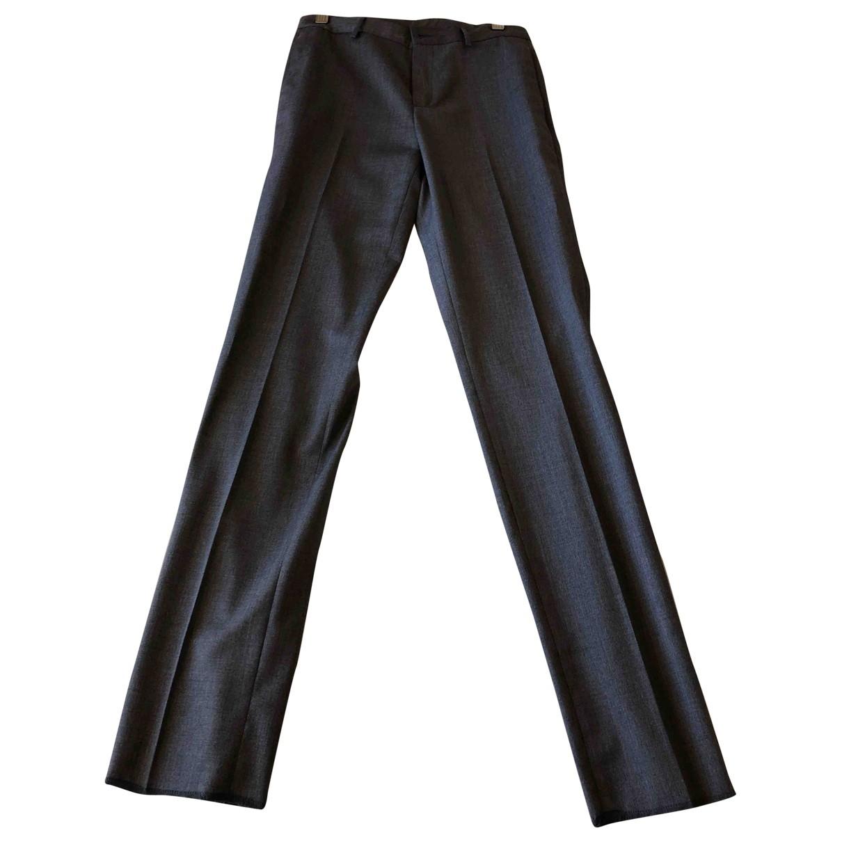 Hackett London \N Grey Wool Trousers for Women XS International