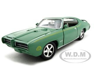 1969 Pontiac GTO Judge Green with Stripes 1/24 Diecast Model Car by Motormax