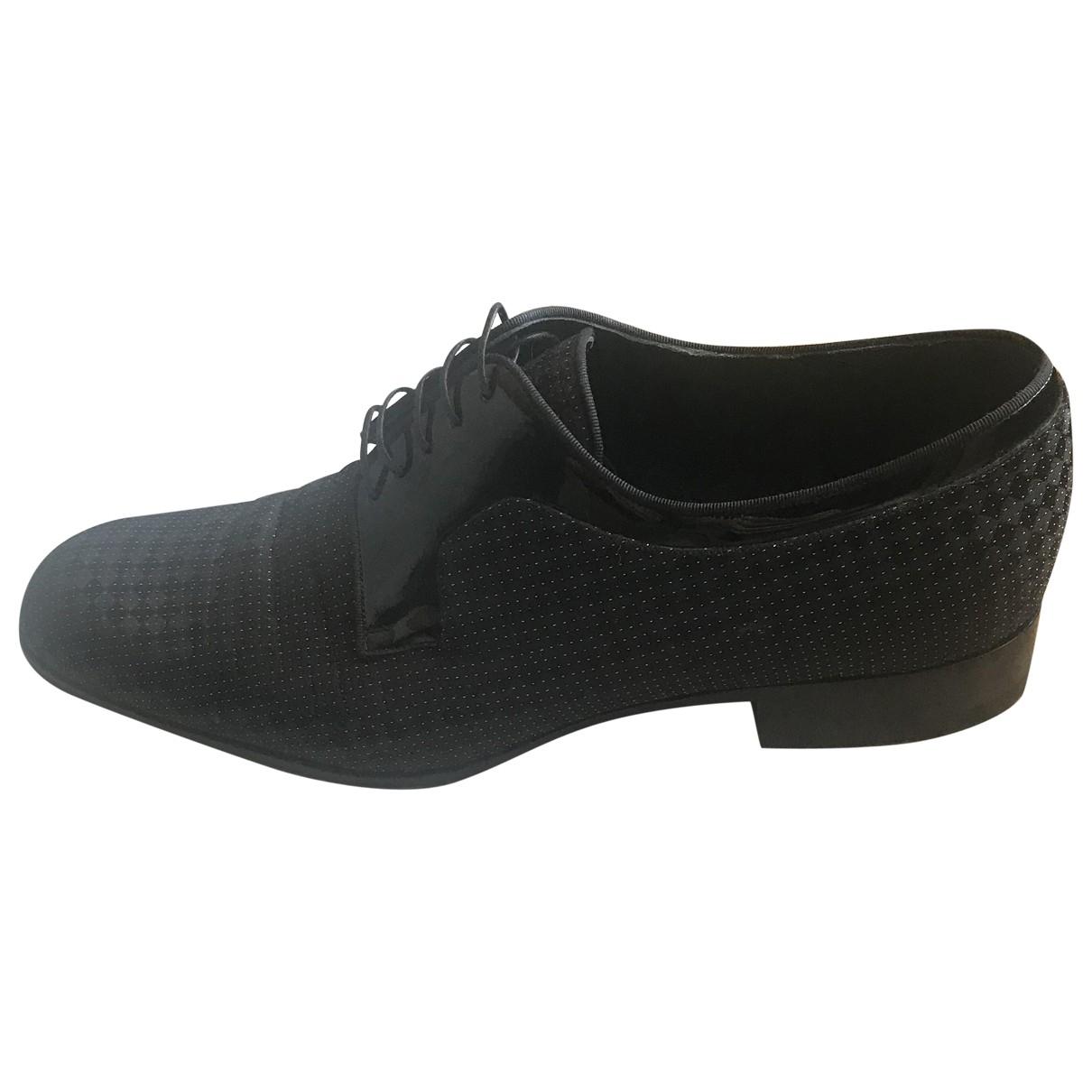 Louis Vuitton \N Black Cloth Lace ups for Men 9.5 US