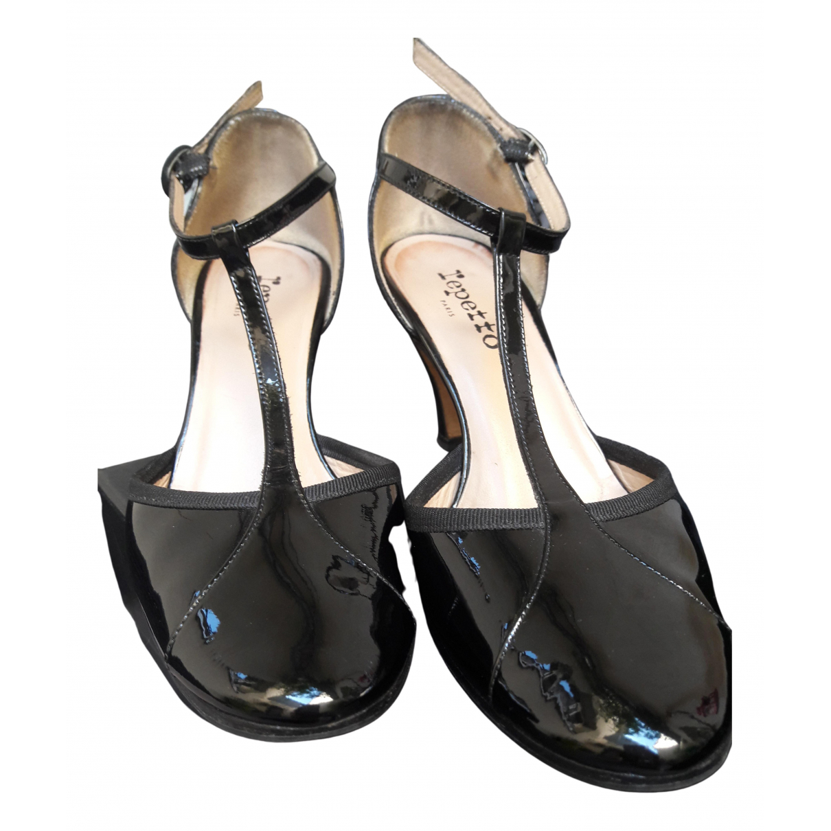 Repetto \N Black Patent leather Heels for Women 39 EU