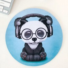 Cartoon Graphic Round Mouse Pad