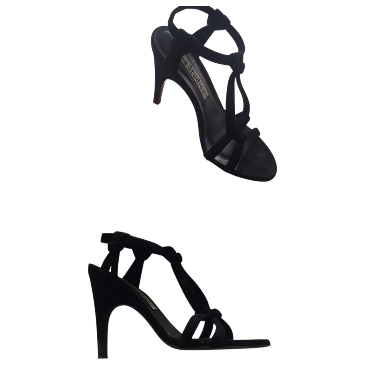 Acne Studios \N Black Suede Sandals for Women 37 EU