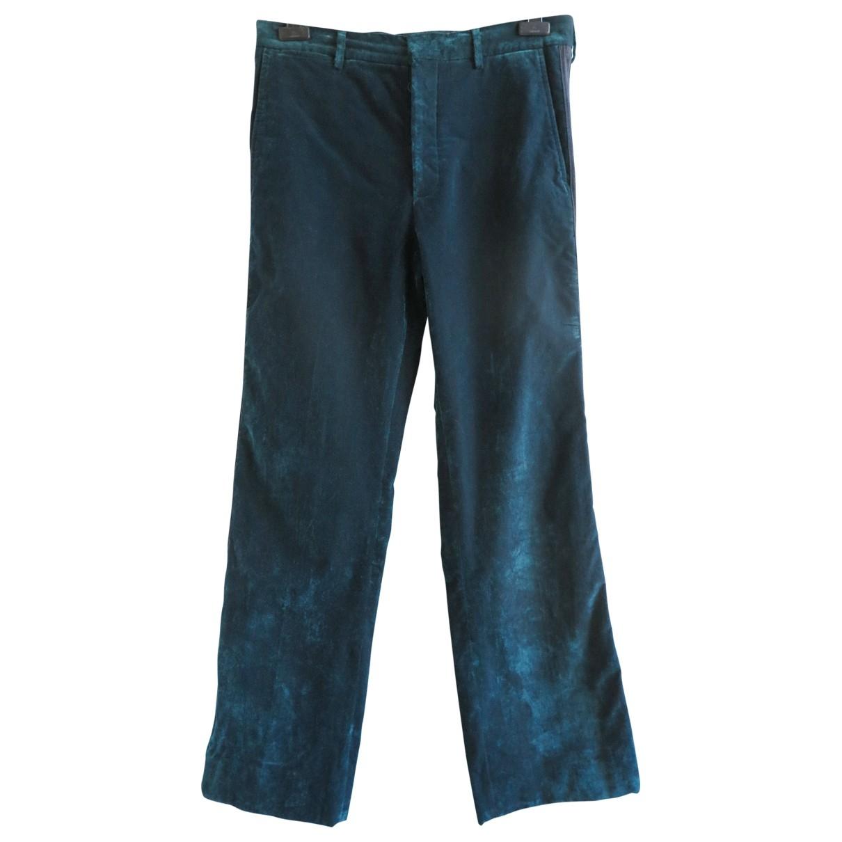 Bottega Veneta \N Blue Velvet Trousers for Men 48 IT