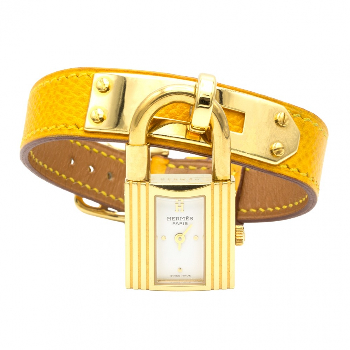 Hermès Kelly Yellow Gold plated watch for Women \N