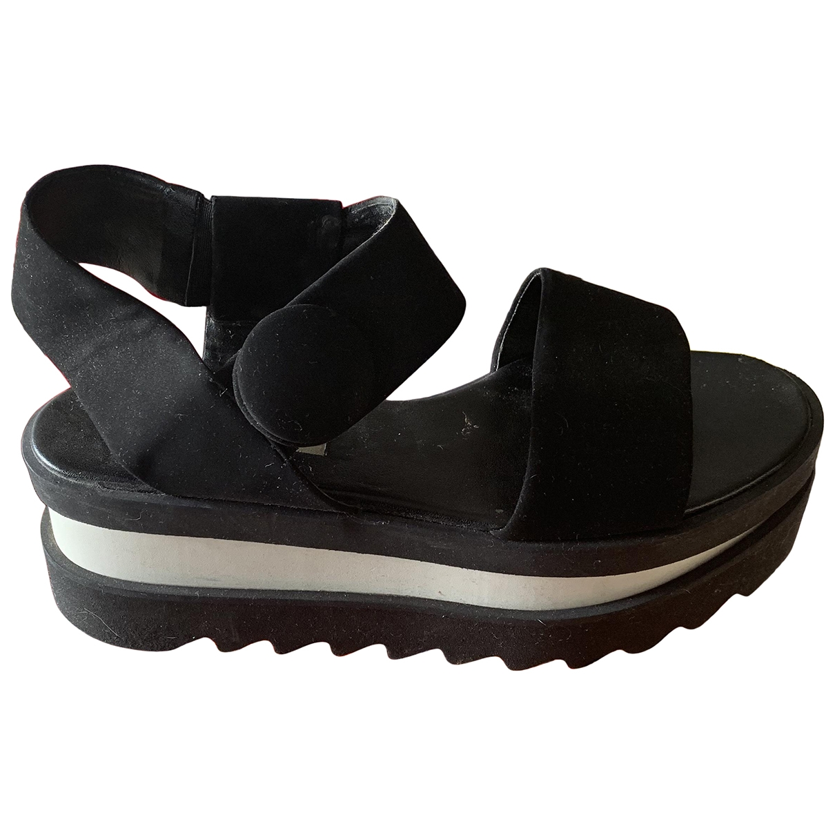 Stella Mccartney \N Black Rubber Sandals for Women 38 EU