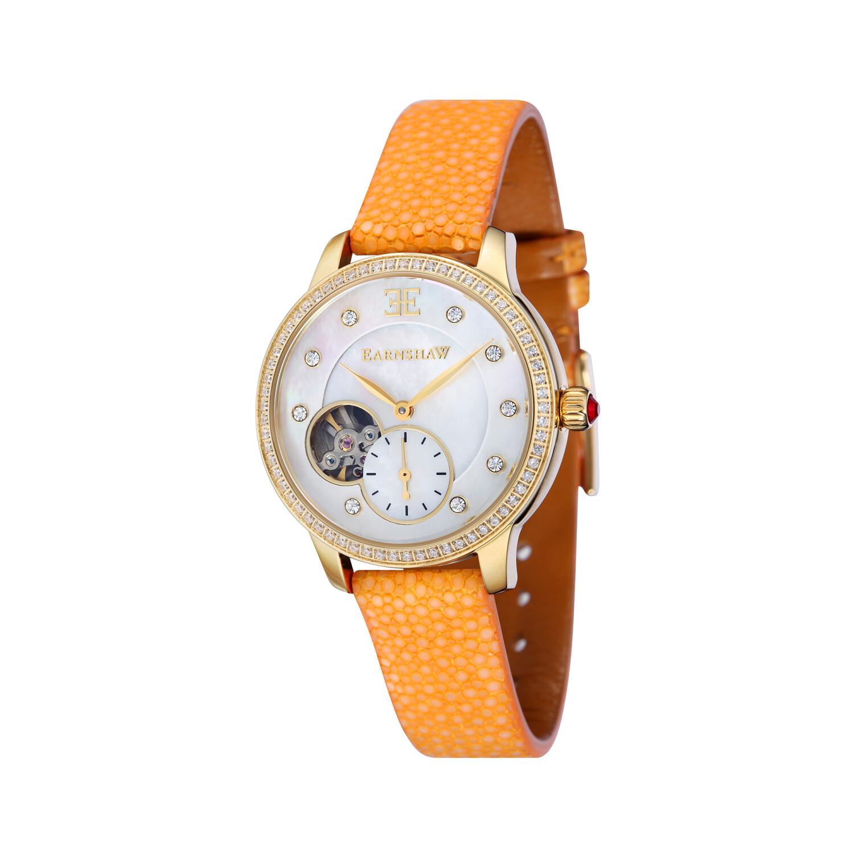 Thomas Earnshaw Women's Lady Australis ES-8029-06 White Leather Hand Wind Fashion Watch