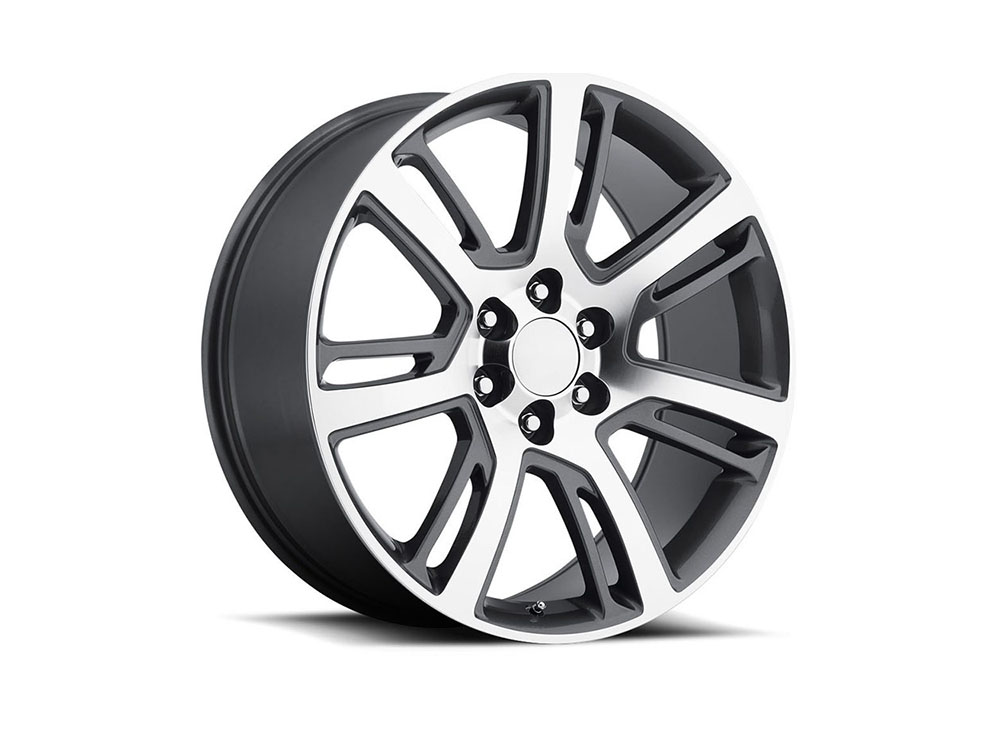 Factory Reproduction Series 48 Wheels 24x10 6x5.5 +31 HB 78.1 2015 Escalade Grey Machine Face w/Cap