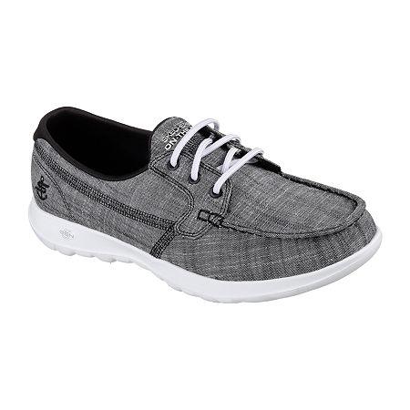 Skechers Go Walk Lite - Isla Womens Walking Shoes Wide Width, 7 Wide, Black