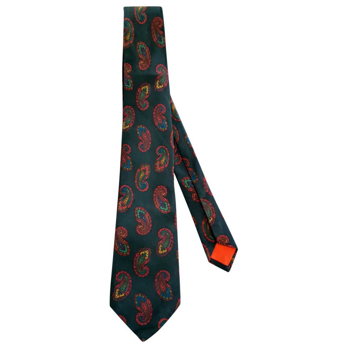 Yves Saint Laurent \N Green Silk Ties for Men \N