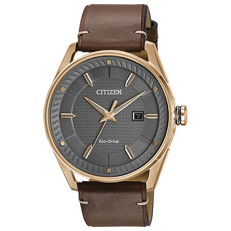Drive from Citizen Mens Brown Leather Strap Watch-Bm6983-00h, One Size , No Color Family