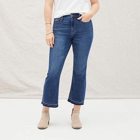a.n.a Womens High Rise Kick Crop Jean, 2 , Blue