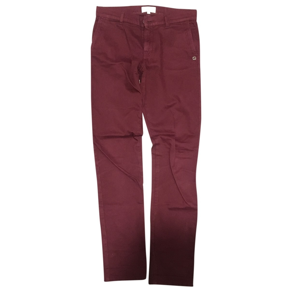 Gucci \N Burgundy Cotton Trousers for Kids 10 years - up to 142cm FR