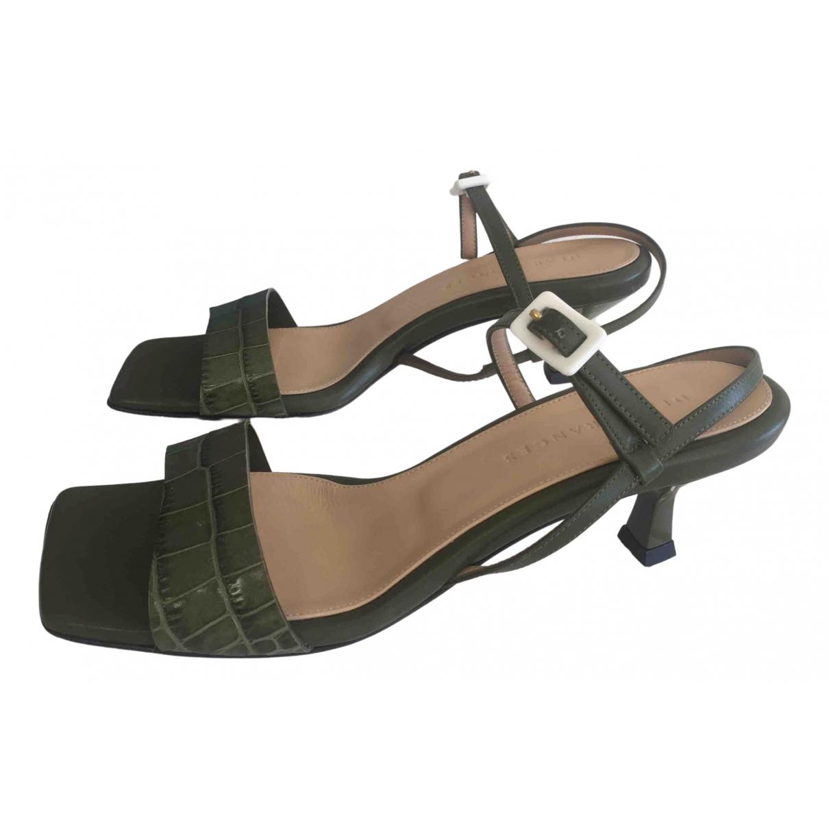Dear Frances \N Green Leather Sandals for Women 37 EU