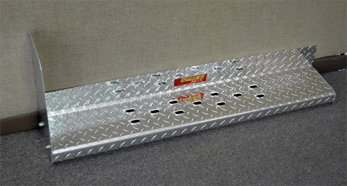 Owens Products 82016G Running Boards Owens Commercial Diamond W/ Stone Guard With Star Burst Grip 97-17 Express/GMC Savana Van 4 Inch Riser 155 Inch A