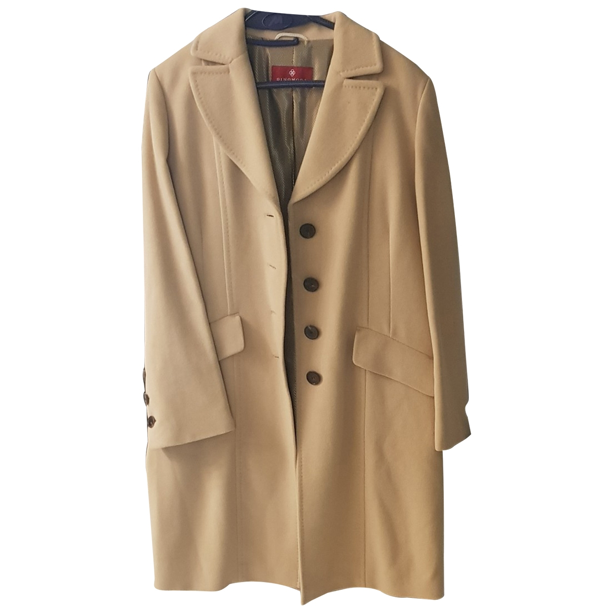 Non Signé / Unsigned \N Ecru Wool coat for Women 40 FR