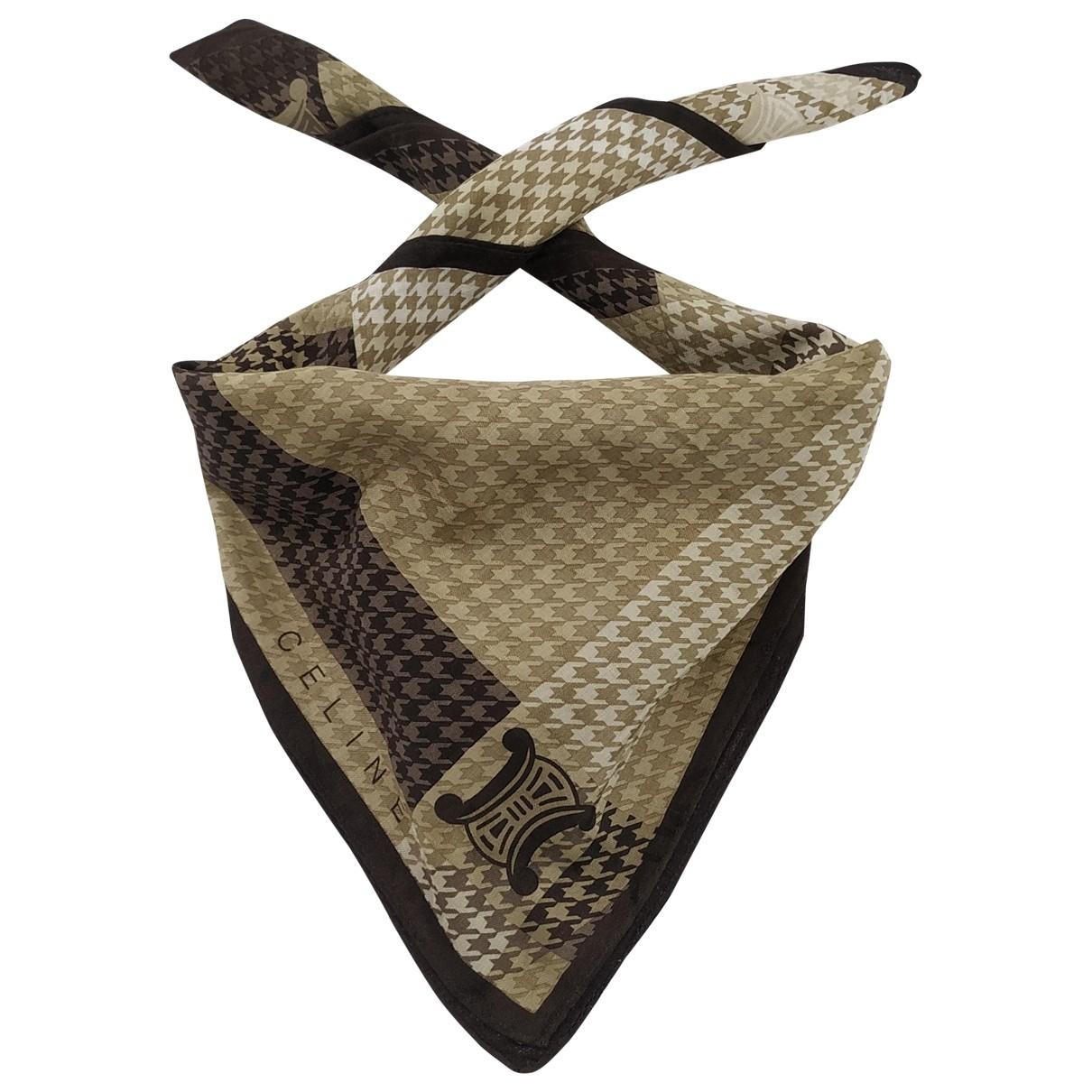 Celine \N Cotton Silk handkerchief for Women \N