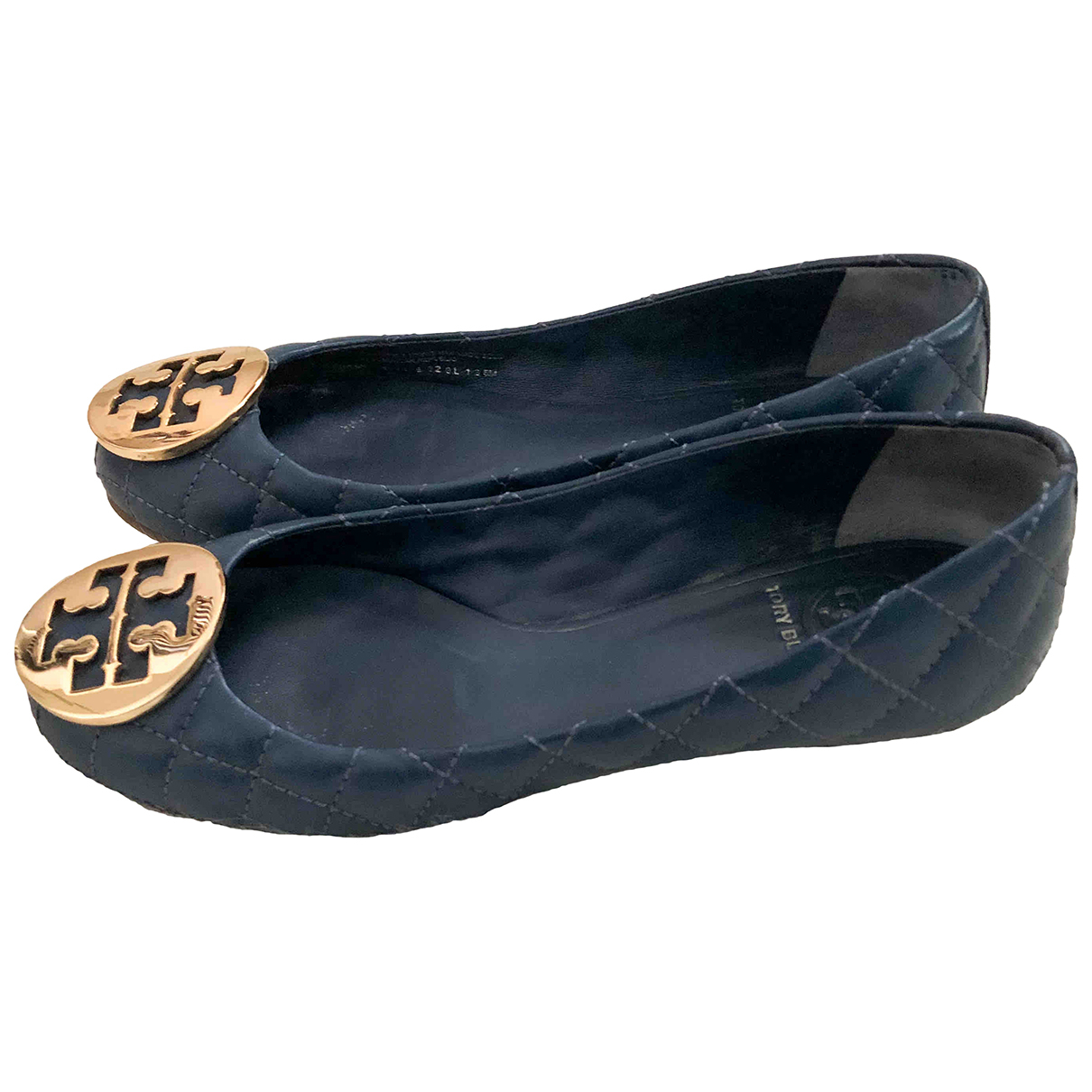 Tory Burch \N Blue Leather Ballet flats for Women 5 UK