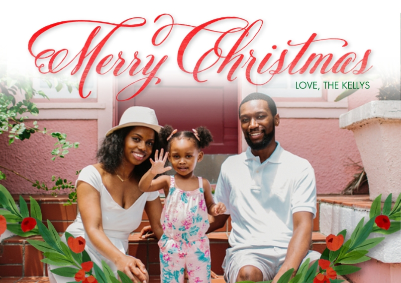 Christmas Photo Cards 5x7 Cards, Standard Cardstock 85lb, Card & Stationery -Shining Christmas