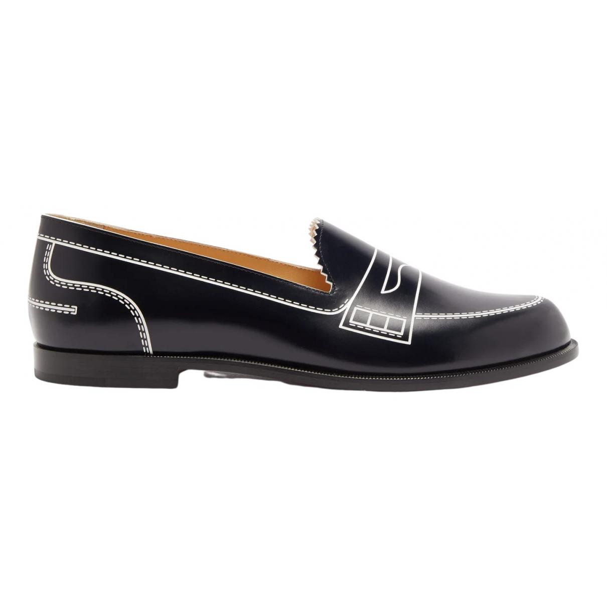Christian Louboutin \N Black Leather Flats for Women 37 EU