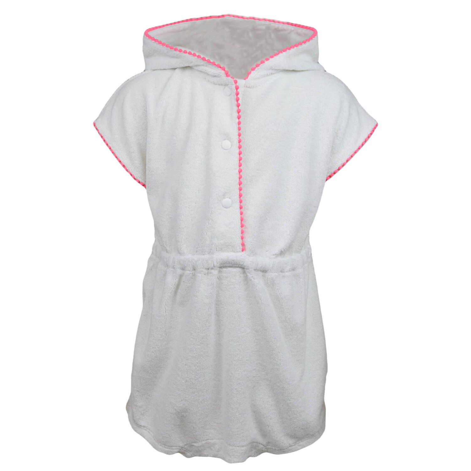 Janie And Jack Hooded Terry One Piece Romper - 18-24 Months - White