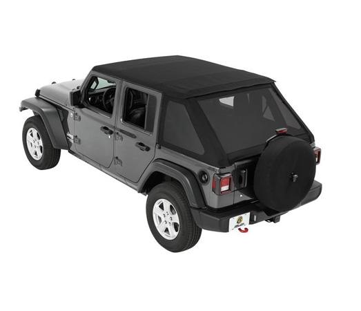 Bestop 56863-35 Black Diamond Trektop Soft Top Jeep Wrangler 4-Door 2018-2021