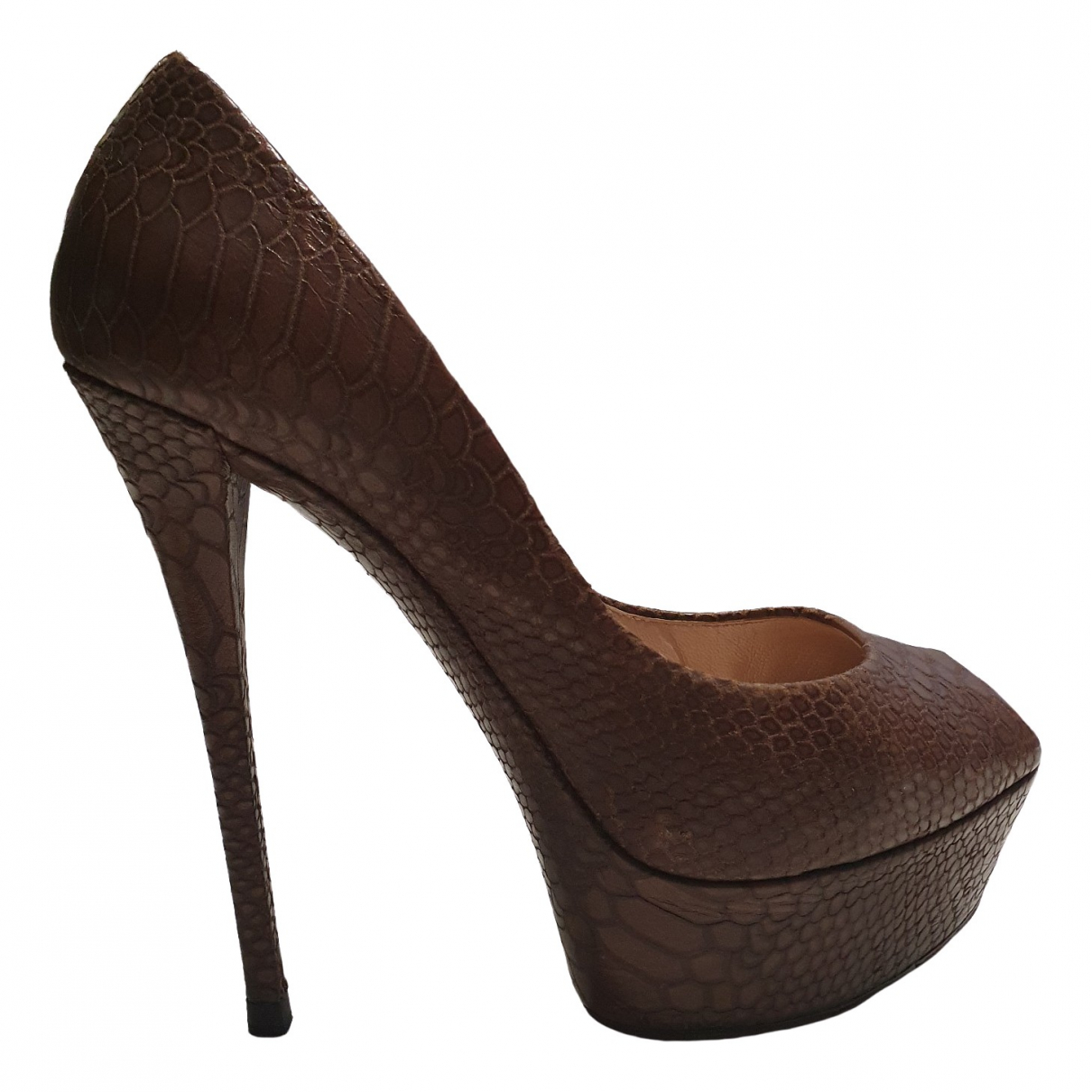 Casadei \N Brown Leather Heels for Women 38 EU