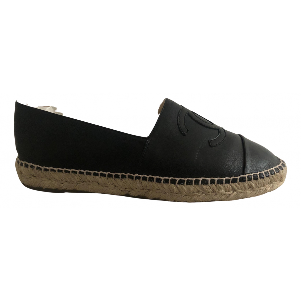 Chanel \N Black Leather Espadrilles for Women 40 EU