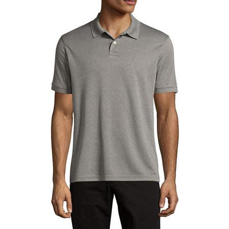 Arizona Mens Short Sleeve Polo Shirt, Large , Gray