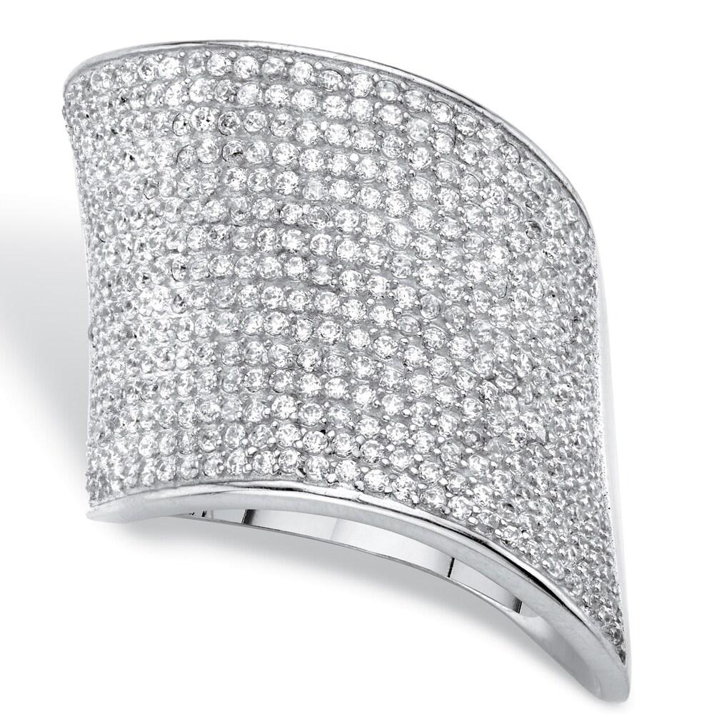 Silver Tone Cubic Zirconia Ring (8)