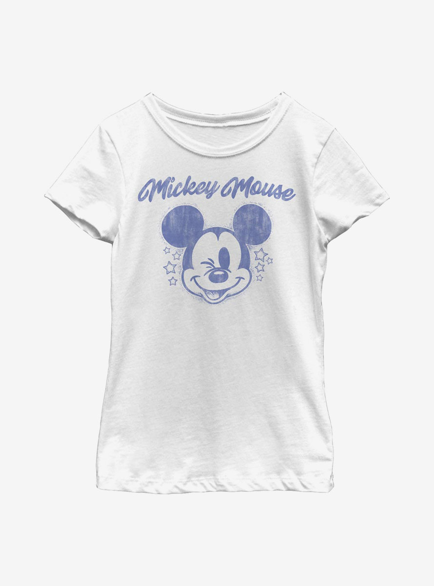 Disney Mickey Mouse Starry Mickey Youth Girls T-Shirt