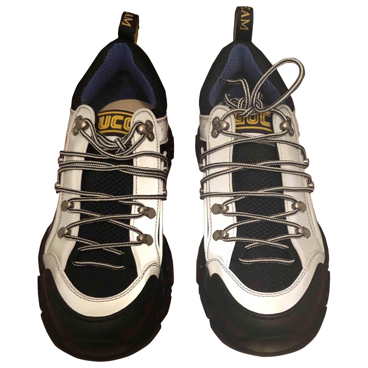 Gucci Flashtrek Grey Leather Trainers for Men 42 EU
