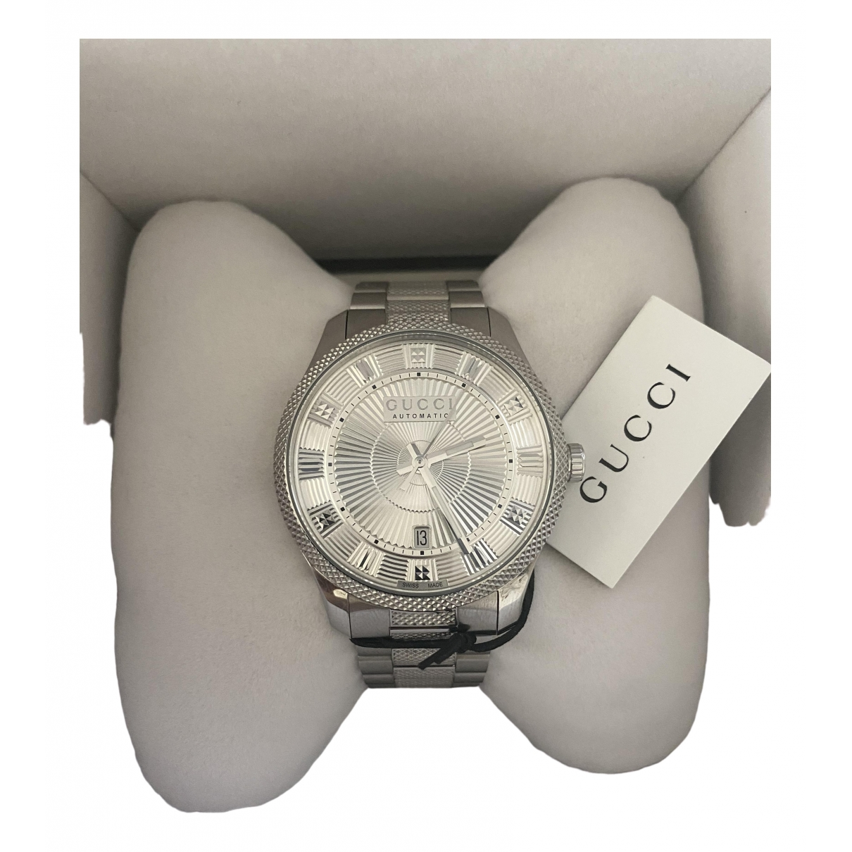 Gucci \N Silver Steel watch for Men \N