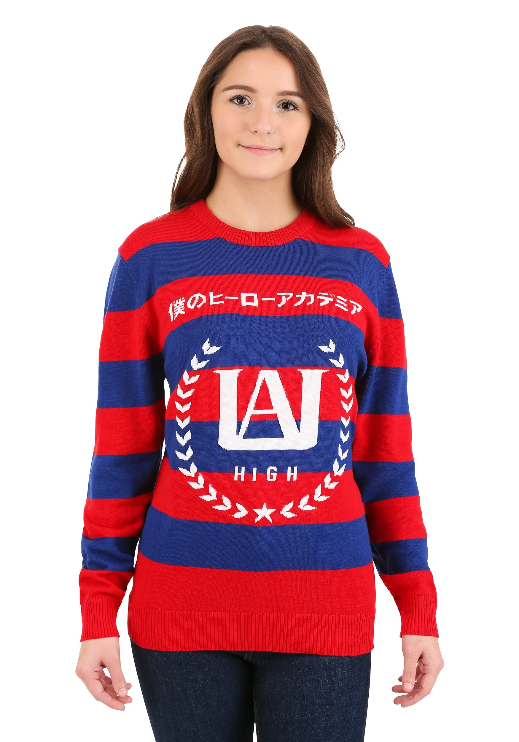 My Hero Academia Striped Sweater for Adults