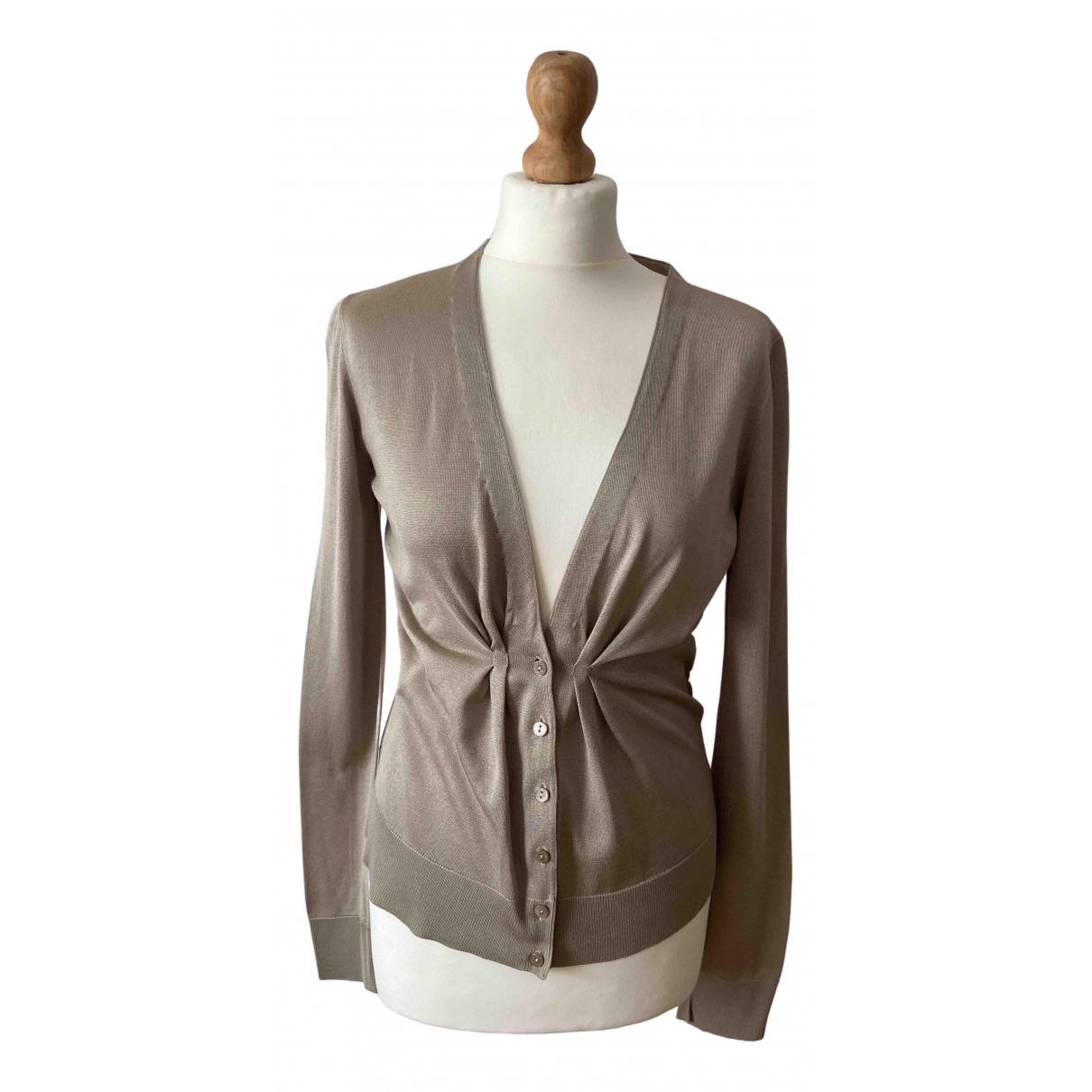 Dolce & Gabbana \N Beige Silk Knitwear for Women 40 IT