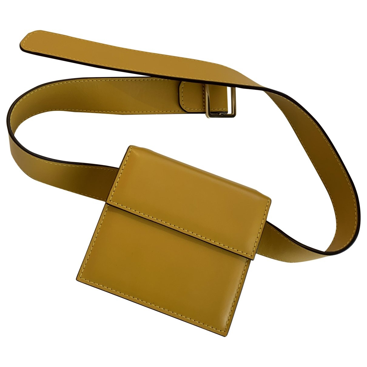 Non Signé / Unsigned \N Yellow Leather Clutch bag for Women \N