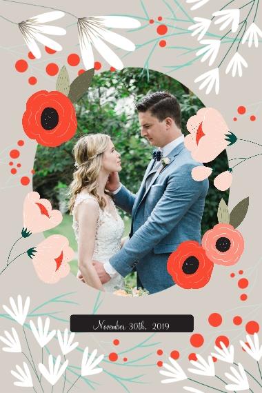 Wedding 12x18 Poster, Home Décor -Wedding Bouquet