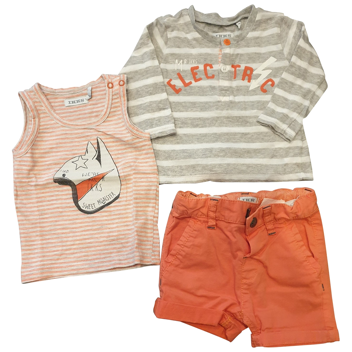 Ikks \N Orange Cotton Outfits for Kids 3 months - up to 60cm FR