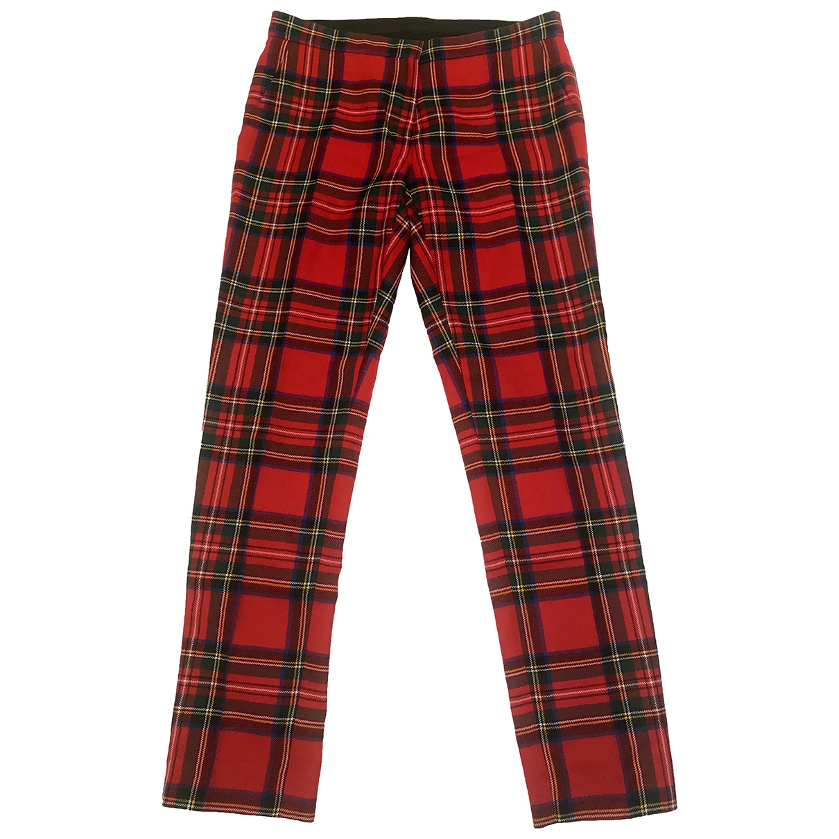 Burberry \N Red Wool Trousers for Women 8 UK